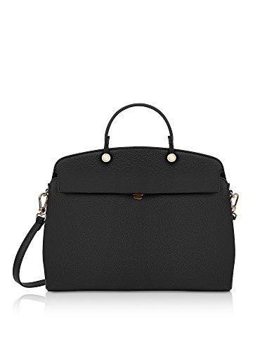 Furla Damen 928213 Schwarz Leder Handtaschen