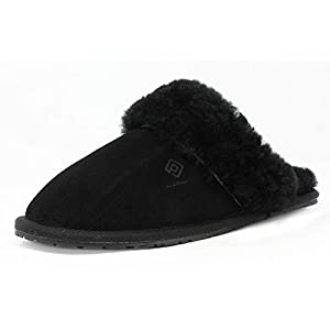 DREAM PAIRS Women's Sheepskin Slip On House Slippers Indoor Outdoor Winter Shoes