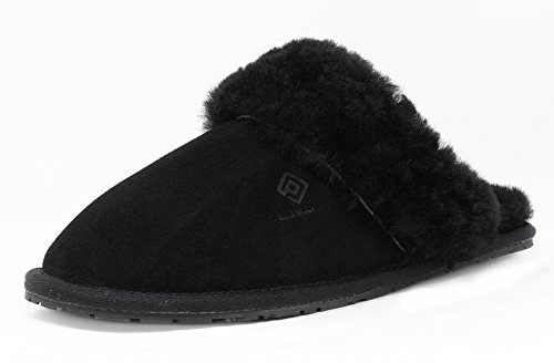 DREAM PAIRS Women's Bliz Sheepskin Fur Mules Fluffy Comfy Slippers