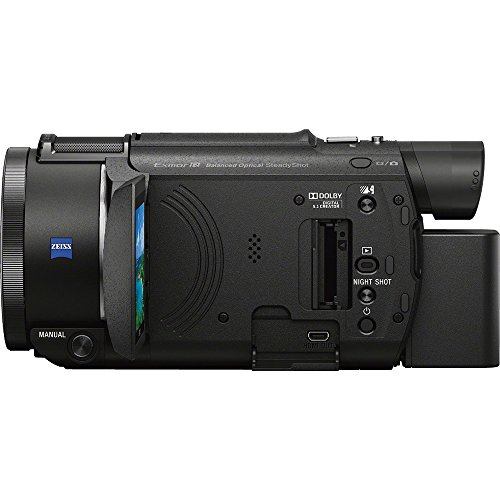 41JVP5c%2B3WL - Sony FDR-AX53/B 4K Handycam Camcorder Deluxe Bundle includes Handycam, 55mm Filter Kit, Battery x 2, Charger, 64GB SDXC Memory Card x 2, Bag, Tripod, Card Reader/Wallet, Beach Camera Cloth and More!