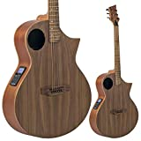 Lindo Neptune SE Black Walnut Electro Acoustic Guitar with Preamp