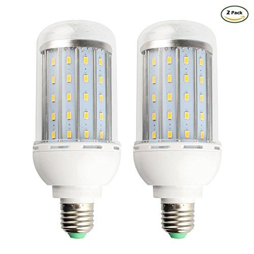 GALYGG 15W LED Corn Light Bulb,1600LM 3000K,E26 Lamp,for Home Garage Factory Warehouse Backyard Lighting,2 Pack - Warm White
