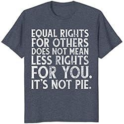 Mens Equality, kindness, anti-trump political t-shirt 3XL Heather Blue