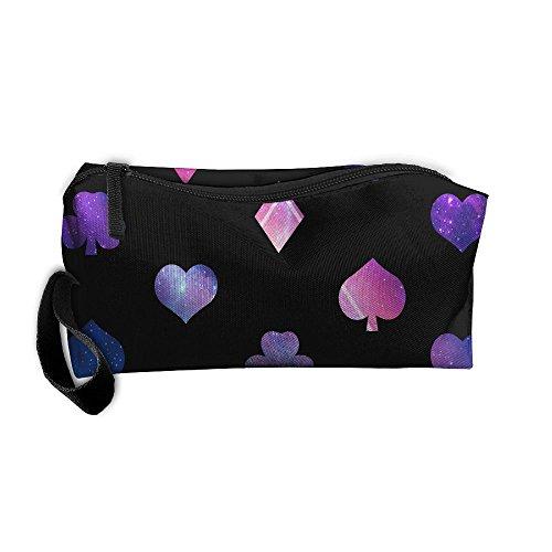 (Lucky Gambler Poker Space Multi-functional Cosmetic Makeup Bag Zipper Closure Bags Toiletries Organizer Bag)