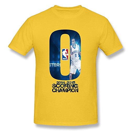 SANYI Men's Westbrook 2014 2015 Scoring Champion T-shirt Size L Yellow