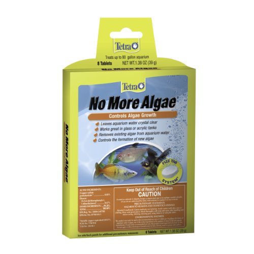 Tetra No More Algae Tablets For Up To 80 Gallon Tank, 8-Count ()