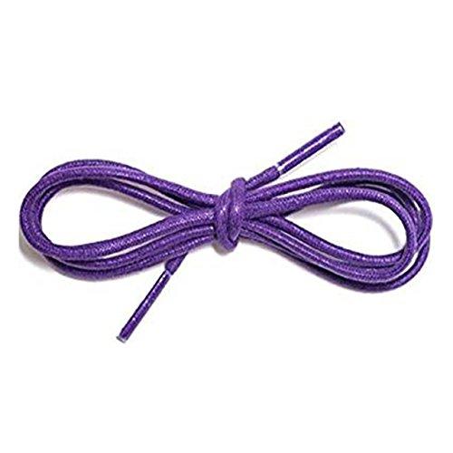 Schnürsenkel für Herren-Schuhe, Baumwolle, gewachst, dünn, 2,5mm breit, 70cm lang, geeignet für Oxford-/Brogue-Schnürhalbschuhe aus Leder