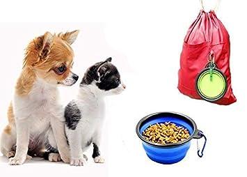 Hokpet Plegable Viajes Tazones para Perros Gatos Mascotas, Tazones para la Alimentación de Riego en