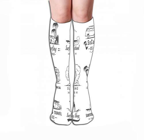 Xunulyn Thin High Socks High Graduated Compression Long Socks for Women and Girls 19.7