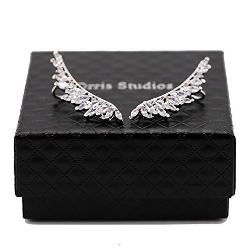 Wings of Angel Ear Cuff Orris Sterling Silver Earring Wrap Stud Set (For Pierced Ear)