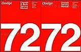 2pc SET 1972 DODGE CARS REPAIR SHOP SERVICE & BODY REPAIR MANUALS Charger, SE Coronet Crestwood Challenger Rallye Swinger Demon Dart 340 Monaco Polara Custom Special