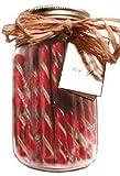 Gift Jar: Strawberry Old Fashion Candy Sticks