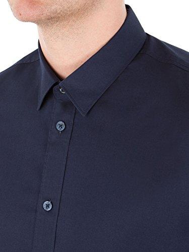 Ben Sherman Herren Freizeit-Hemd, Einfarbig