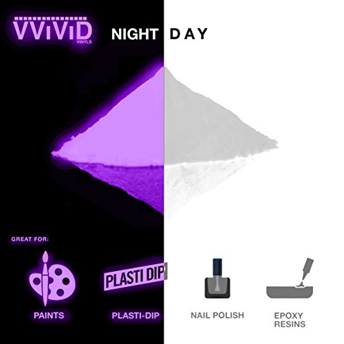 VViViD Prisma65 Glow in The Dark Additive Powder 30g Packet for Homemade Slime and Assorted Craft Applications (Purple) (Homemade Glow In The Dark Nail Polish)
