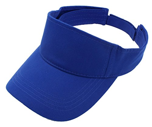 Top Level Sun Sports Visor Men Women - 100% Cotton One Size Cap Hat, Roy ()