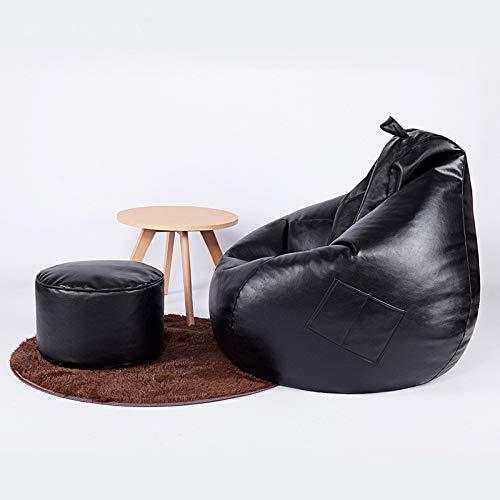 Amazon.com: Classic Bean Bag Adult Size PU (Color : Black ...