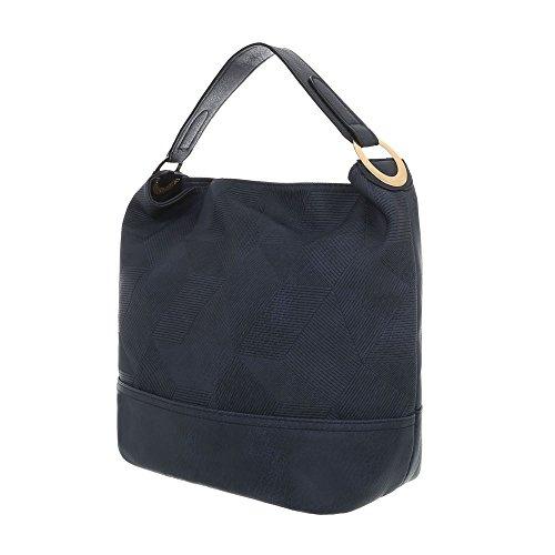 Foncé à l'épaule à Design Sac pour Bleu porter femme Ital z7OqF