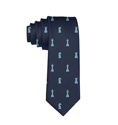 MrDecor Men Chess Polyester Silk Casual Gentleman Tie Necktie Gift