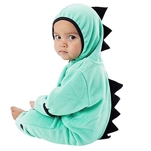 2018 Infant Toddler Zip Clothes Jumpsuit,Baby Girls Boys Dinosaur Hoodie Romper (6-9 Months, Green)