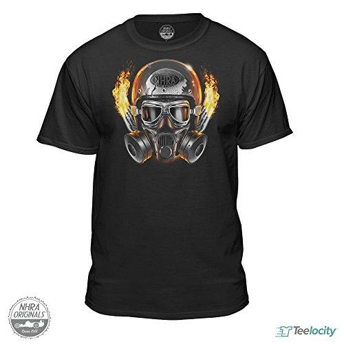 Nhra National Hot Rod Association Official Drag Racing Mens Helmet T Shirt  Large
