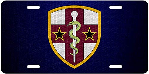 U.S. Army Reserve Medical Command, Shldr Sleeve Military Novelty License Plates Custom Decorative Front Plate Cover for US Vehicles, 12 x 6 Inch ()