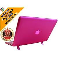 """Funda rígida mCover iPearl con cubierta de teclado GRATUITA para MacBook Pro de 15 """"Modelo A1286 Aluminio Unibody MacBook (teclas negras, pantalla regular diagonal de 15.4 pulgadas) - PINK"""