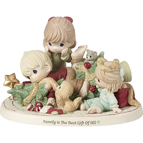 Figurine Limited Collection Edition - Precious Moments Limited Edition Family Chaos Christmas Tree 191011 Figurine, One Size, Multi