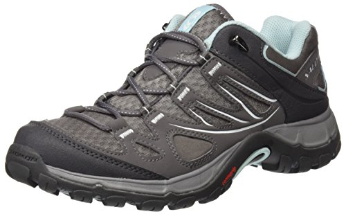 New Salomon Women's Ellipse Aero Hiking Shoe Pewter/Frosty Blue 8.5 by Salomon