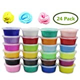 Anditoy 24 Colors Soft Super Light Modeling Clay Floam Fluffy Slime Toys for Kids DIY Party Favors