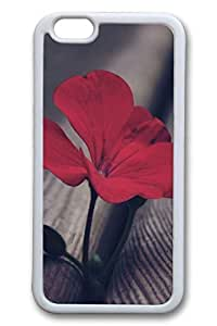 B Red Flowers Slim Soft Cover for iPhone 6 Plus Case ( 5.5 inch ) TPU White Cases in GUO Shop