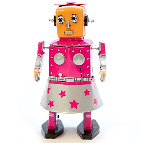 Off the Wall Toys Vintage Style Venus Robot Windup Tin Toy