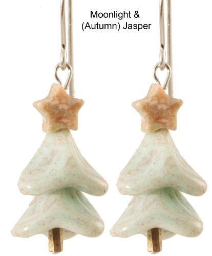 Blue by Moonlight Christmas Tree Earrings - Sterling Silver - Autumn Jasper