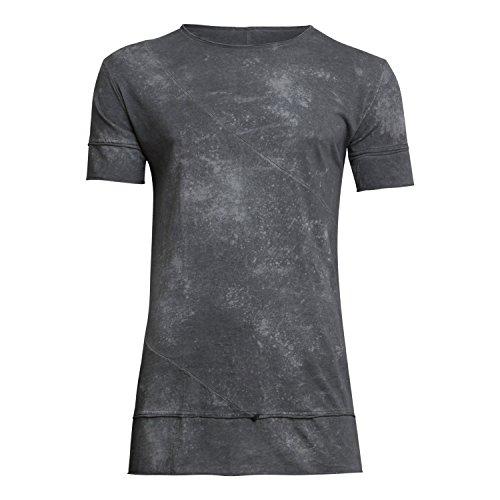Herren T-Shirt M4735U129 von Imperial Farbe Anthrazit Washed Look Basic Casual Freizeit Party