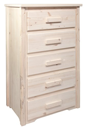 Montana Woodworks MWHC5D Homestead Collection 5-Drawer Chest of Drawers, Ready to Finish