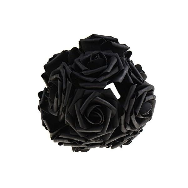 10Pcs-Artificial-Rose-Flowers-Head-Party-Wedding-Bridal-Bouquet-Home-Decoration-Black