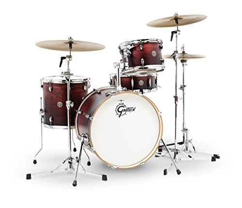 Gretsch Drums CT1-J404-SAF Catalina Club 4 Piece Drum Shell Pack, Satin Antique Fade