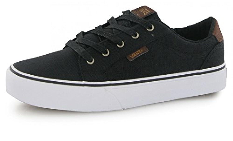 Vans Bishop, Boys' Low-Top Sneakers, Black (textile/black/potting Soil), 2 UK (33 EU)