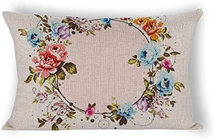wendana - Funda de Almohada de algodón y cáñamo, diseño de ...