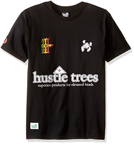 - Hustle Trees Men's Bong Olympics Tee, Black, X-Large