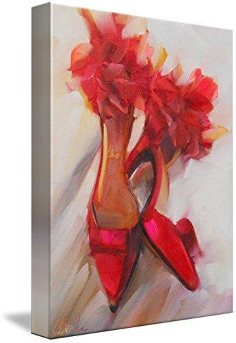 Charles Satin Heels - Imagekind Wall Art Print Entitled Party Heels by Beth Charles | 11 x 15