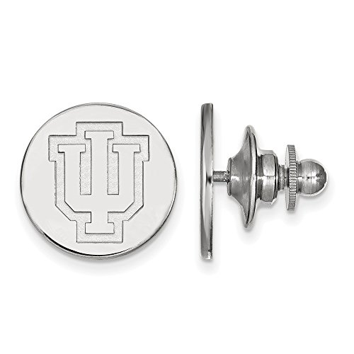 Sterling Silver LogoArt Official Licensed Collegiate Indiana University (IU) Lapel Pin by LogoArt
