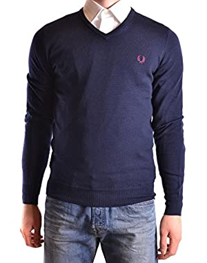 Men's MCBI128195O Blue Wool Sweater