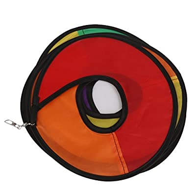 BESTOYARD Rainbow Wind Spinner Tent Garden Outdoor Lawn Decoration Nylon Colorful: Toys & Games