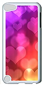 iPod Touch 5 Cases & Covers - Colored Heart-shaped Background Image Custom PC Soft Case Cover Protector for iPod Touch 5 - White