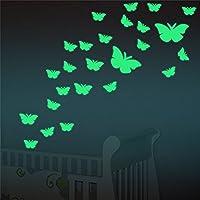 Marsway 12 Pcs Butterflys Night Glow Sticker Luminous...