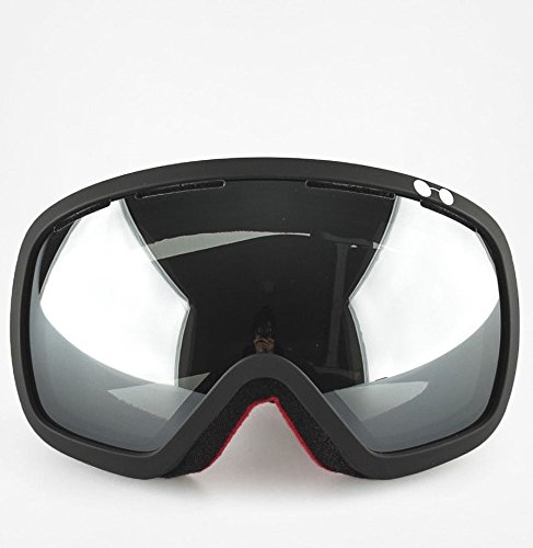 Ashbury Bullet Snow Goggles Black With Silver Chrome & Yellow - Ski Ashbury