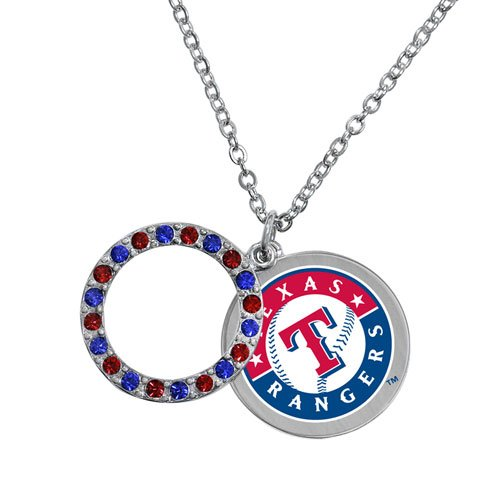 (Game Time Offical MLB TEXAS RANGERS Disc Necklace)
