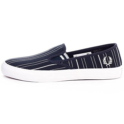 Fred Perry Authentics Turner Slip On Retro Stripe Pumps NAVY 9