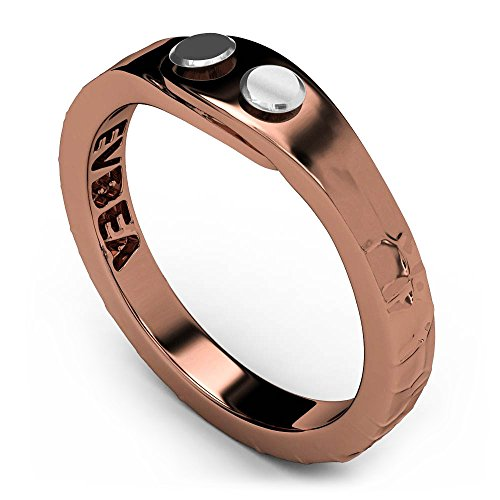 EVBEA Simple Thumb Rings for Women Antique Fun Copper Color Textured Earthy Band Rings