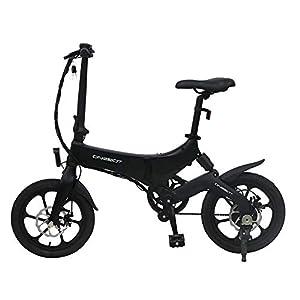 41JVaNPVOFL. SS300 Biciclette Elettriche PIEGHEVOLE 16 Pollici da 250W 25km/h per Donna Uomo Mountain bike/Bici da Montagna Città, Batteria al Litio da 36 V Schermo LCD Freni a Disco 3 Modalità [STOCK UE]